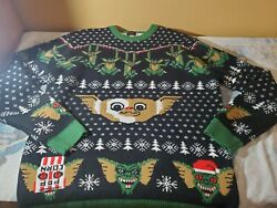 Gremlins Mondo Holiday Christmas Ugly Sweater Men's 2xl, Excellent Condition