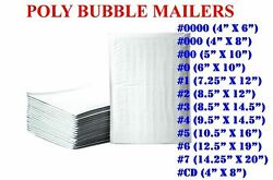 50/100/200/500 Poly Bubble Mailers Padded Envelope Shipping Bags Seal Any Size