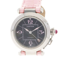 Watches Silver Pink Stainless Steel Leather Christmas Limited Pasha Used