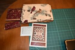 Quilt Kit Pattern And Material Cardinals In Pine 72 In X 84 Gathering Friends