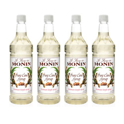 Monin Pure Cane Syrup Pure And Sweet Great For Coffee Tea 4-pack