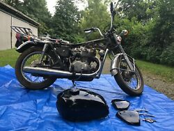1972 Honda Cb450 - Easy Rebuild Title And Key In Hand Tank/side Covers Painted