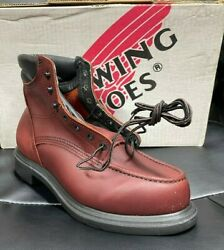 100 Authentic Red Wing 202 6 Work Boots New In Box Made In Usa