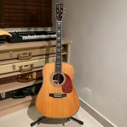 Abalone Ebony 41 D Type Solid Red Cedar Top Acoustic Guitar Rosewood Back Sides