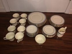 Minton Consort 5 Piece Place Settings For 8 With Creamer Sugar Bowl Mint 42 Pc