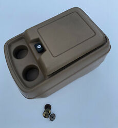80-96 Ford F150 Truck F100 F250 F350 Bronco Center Console Cup Holder Tan Oem