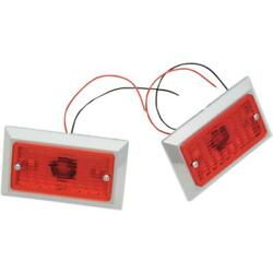 Chris Products Marker Lights - Dual Incandescent With Red Lens - 0814r-2