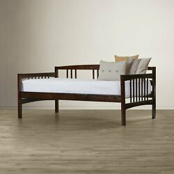 Espresso Finish Twin Wood Daybed Home Bedroom Dorm Furniture Optional Trundle