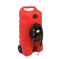 14 Gallon Portable Gas Fuel Caddy Tank With Pump Hose For Atv Auto Mower Boat