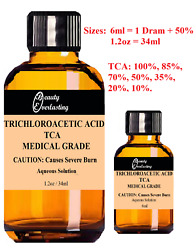 T C A Skin Peel - Medical Grade - All Strengths - 6ml,1.2oz - Amazing Results