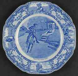 Crown Ducal Colonial Times Blue Luncheon Plate 91851