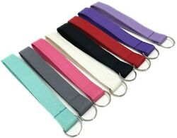 Poly fabric solid color Wristlet keychain key fob with keying 6 inch Opening $8.50