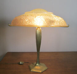 Stunning French Art Deco Table Lamp 1925/ Muller Freres And Hettier And Vincent