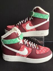 Nike Air Force 1 High '07 Lv8 'christmas Sweater'team Red Mns.sz.14 Dc1620-600