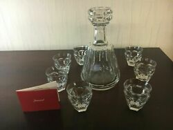 Lot 1 Decanter And 7 Baccarat Crystal Liqueur / Coffee Glasses Lot Price