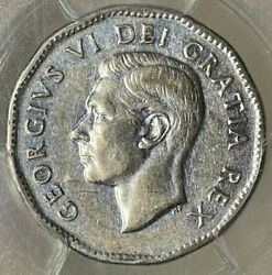 Canada 5 Cents 1951 High Relief - Pcgs Au55