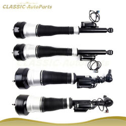 2 Pairs Front + Rear Air Suspension Strut For 4matic Mercedes W221 S500 S550