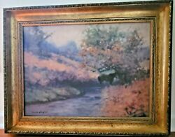 Listed James English Fine Art Painting-oil On Canvas