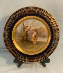 Royal Vienna 10 1/2 Scenic Hp Plate Signed R. Nagl The Punished Amor ...mint