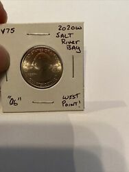 """2020 W West Point Salt River Bay America The Beautiful Quarter """"o6"""" Uncirculated"""