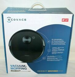 Ecovacs Deebot Ozmo T8 Aivi Robotic Mopping And Vacuum Cleaner Black - Brand New