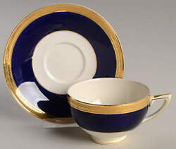 Crown Ducal Admiral Blue Cup And Saucer 91387