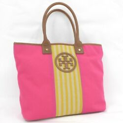 Tree Burch Tote Bag Canvas Pink $183.80