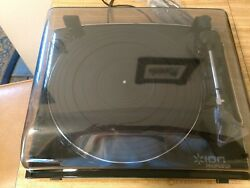 Pre-owned Turntable, Ion Profile Lp, Vinyl Record Player And Usb Port,