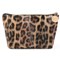 Makeup Bag Travel Cosmetic Bag for Purse Small Bag Leopard Cute Pouch Gift for $10.32
