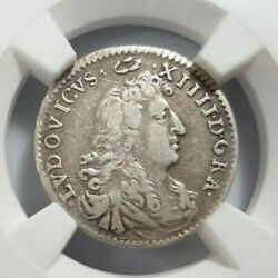 1675 Louis Xiv The Sun King Ngc Vf 30 France Silver 4 Sols Wig Crest Crown Coin