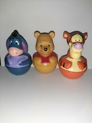 Vintage Weeble Wobble Disney Winnie The Pooh And Friends Tigger, Eeyore And Pooh Lot