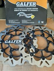 2 Galfer Front Wave Rotors Right/left For Suzuki Gsxr600 750 1000 Df358cw