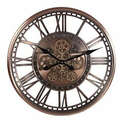 Infinity Time 21in Real Moving Gear Wall Clock Vintage Industrial Steampunk Cog