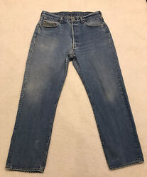 Vintage 80's Levi's 501 Button Fly Jeans Tagged 36x32 Measures 32x28. Cool