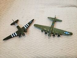 2 Vintage Toys Diecast Metal Toy Military Airplanes 2nd Patches 6