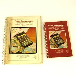1976 Texas Instruments Ti Sr-56 Calculator Applications Library And Manual Book