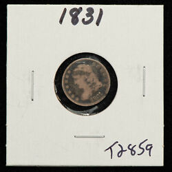 1831 H10c Capped Bust Silver Half Dime - Value Coin - Vg/fine - Sku-t2859