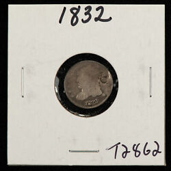 1832 H10c Capped Bust Silver Half Dime - Value Coin - Sku-t2862