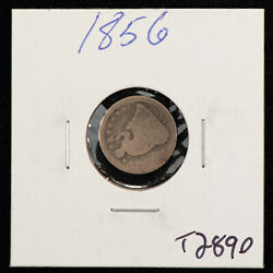 1856 H10c Seated Liberty Silver Half Dime - Value Coin - Sku-t2890