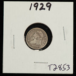 1829 H10c Capped Bust Silver Half Dime - Value Coin - Vg/fine - Sku-t2853