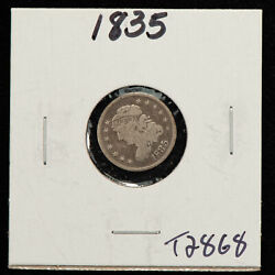 1835 H10c Capped Bust Silver Half Dime - Value Coin - Vg Dets - Sku-t2868