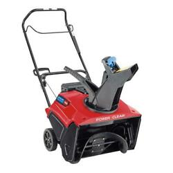 Toro Single-stage Gas Snow Blower 21 In. 212 Cc Chute Control Electric Start