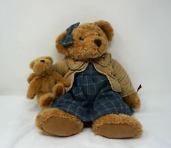 Russ Vintage Collection Lady Quinn Bear With Baby Cub Excellent Condition