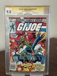 G.i. Joe 1 A Real American Hero Cgc 9.8 White Pages Newsstand Ss Signed 1982