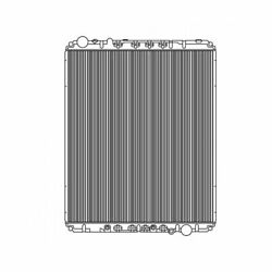 Fits A 2008-2010 Freightliner Cascadia Radiator Plastic And Aluminum With Frame