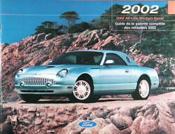2002 Ford Model Line Brochure New T-bird Debut Rare Cdn Issue Free Shipping
