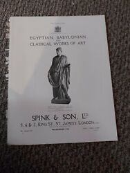 Pb08 Advert/picture 11x8 Spink And Son - Marble Statue Of Hadrian, Life Size