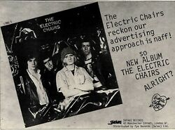 18/2/78pn44 Advert 'the Electric Chairs' New Album On Safari Records 7x11