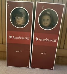 American Girl Doll Molly And Emily - Excellent Condition - In Box