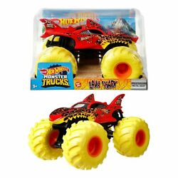 Hot Wheels Monster Trucks 124 Scale Vehicles, Collectible Die-cast Metal Toy...